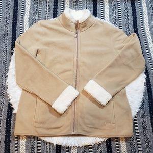 Izod Women's Tan Fleece Jacket